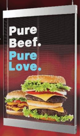 LED Poster for burger restaurant